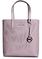 MICHAEL Michael Kors Hayley Perforated North/South Tote (Cement)