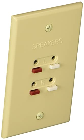 Amazoncom RCA Speaker Wire Wall Plate AH300R Almond Home