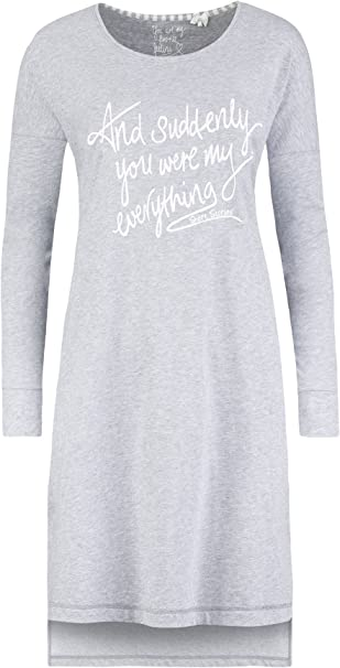 TALLA XL. Short Stories Longshirt Camiseta de Pijama para Mujer
