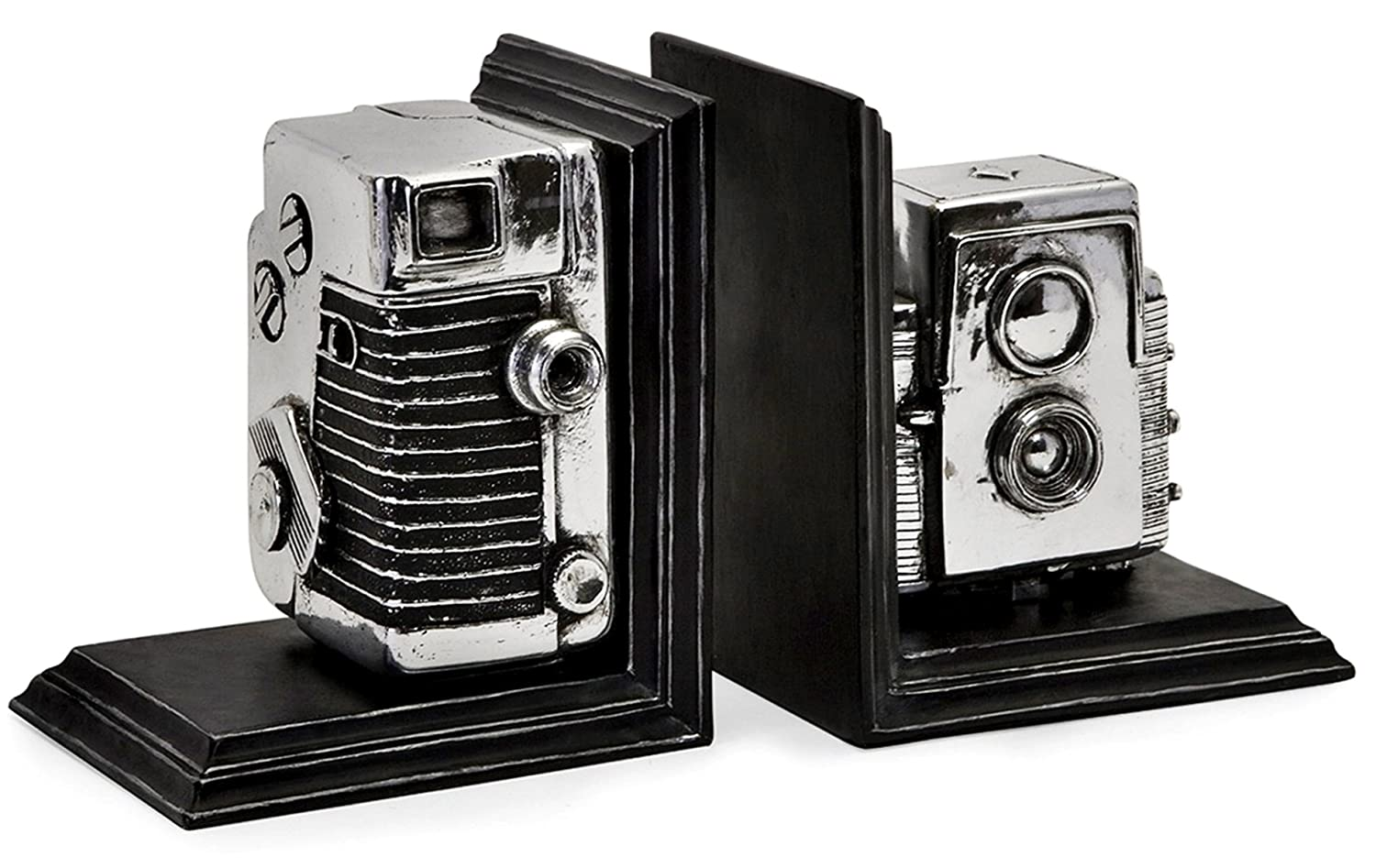 Amazon.com: #1 Expedition Vintage Camera Bookends, Black/silver: Home &  Kitchen