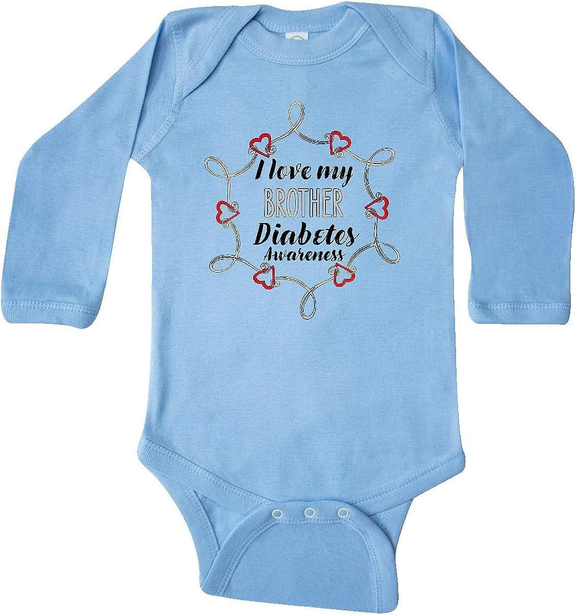 inktastic I Love My Brother Diabetes Awareness Long Sleeve Creeper