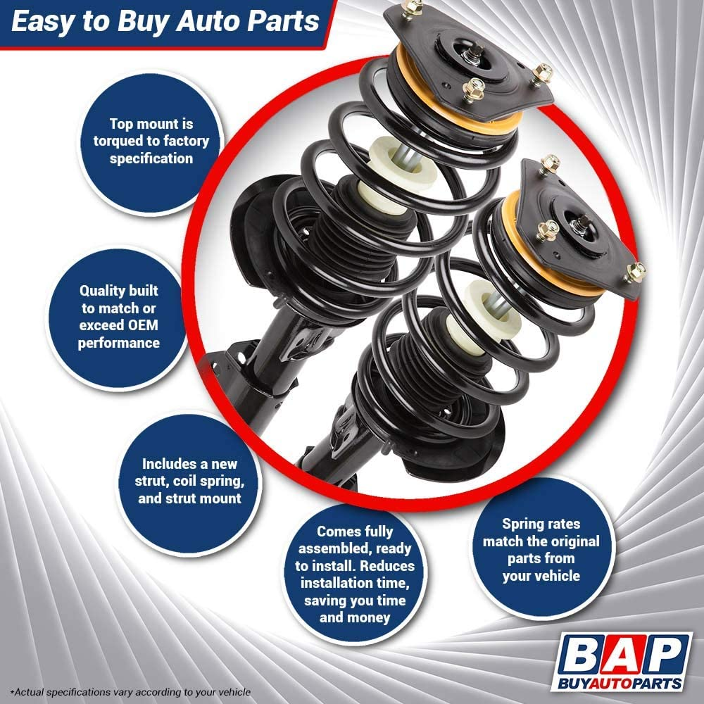 BuyAutoParts 75-877312C New For Kia Optima Pair Front Shock Strut w//Spring
