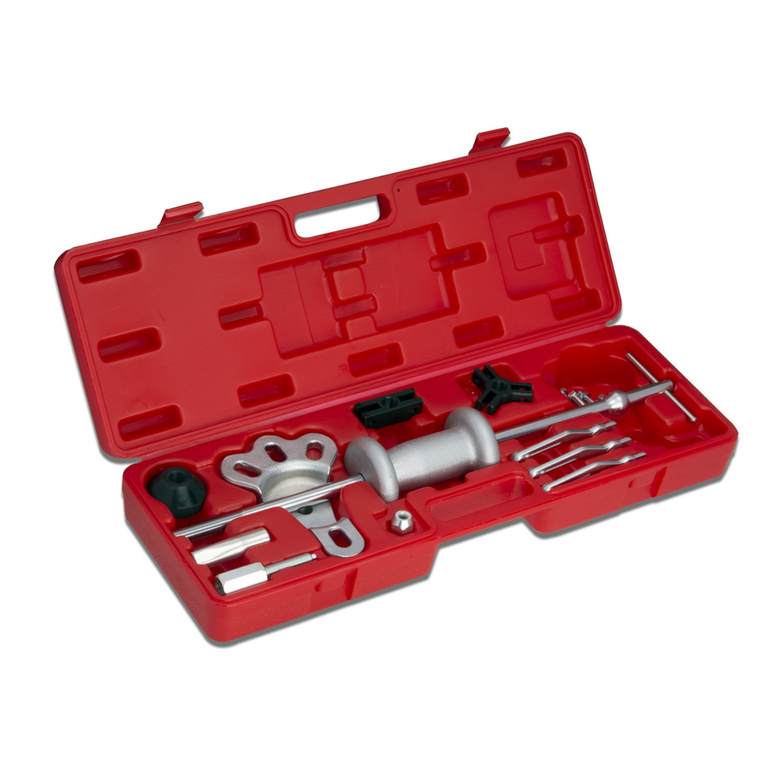 Neiko 02236A Automotive Slide Hammer Puller Set | Steel T-handle | Chrome Vanadium Steel Attachments | 17-Piece Set