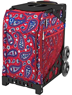 Choose Your Frame Color ZUCA Sport Suitcase with Built-in Seat Imperial Plaid Insert Bag