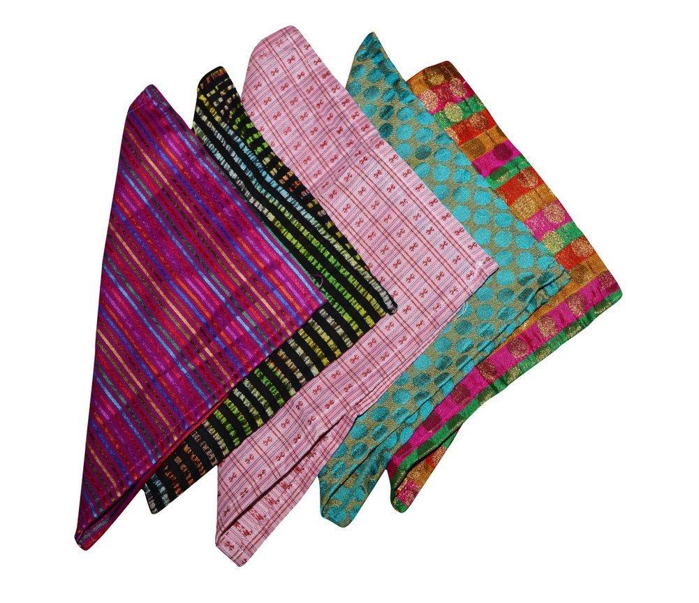 Ana'z Pocket Square Set of 5 Handkerchief Men's Fashion Multicolor Accessory