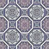 Tropics Brasillia Tiles Wallpaper - Blue - Arthouse 690500