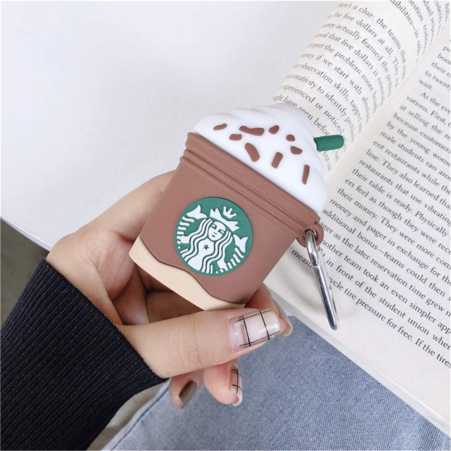 Cute Cartoon 3D Air pods Design Cover Cool Fun Kawaii Fashion Funny Cases for Kids Girls Teens Character Skin Keychain Kits Airpod Lupct Noodle Cup Compatible with Airpods 1//2 Case Soft Silicone