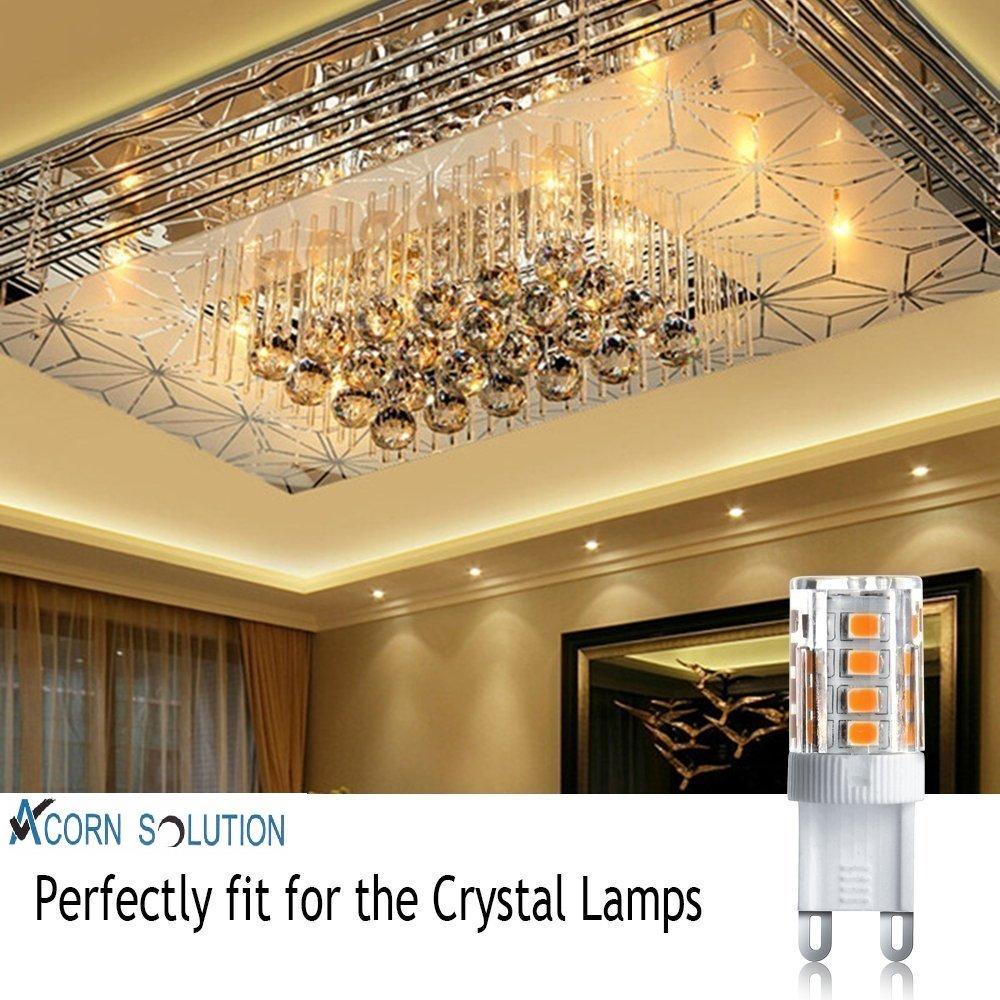 Juego de bombillas LED halógenas Acorn G9 (5 unidades, 5 W, lúmenes, color blanco cálido, ángulo luminoso de 360 grados, casquillo G9): Amazon.es: ...