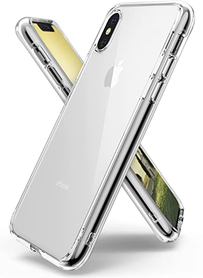 outlet store 43d76 3efbf Ringke [FUSION] Case Compatible with iPhone X, Clear Transparent PC Back  TPU Bumper [Drop Defense] Raised Bezels Scratch Protection Natural Form Qi  ...