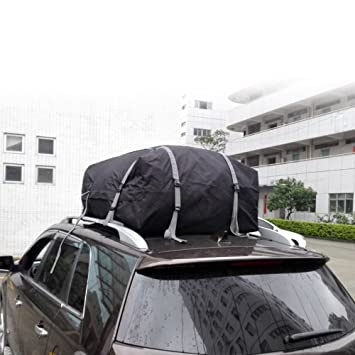 KKmoon Folding Roof Box Car Top Cargo Bag Carrier With Rack Ideal For Cars