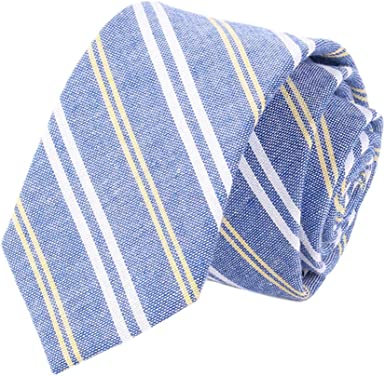Westeng 1pcs Cravate Homme en Coton Cravate élégante Mode