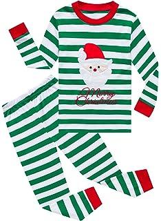 Amazon.com  Boys Christmas Pajamas Kids 100% Cotton Pjs Set Toddler ... d58c51a0d