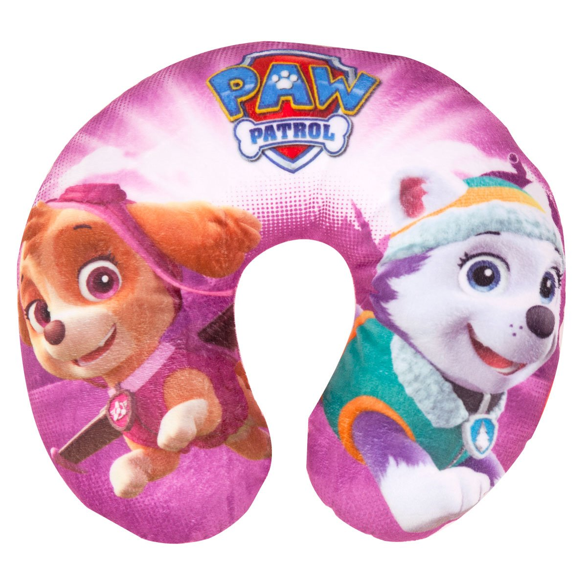 Paw Patrol Travel Pillow Everest & Skye Soft Cushion Head & Neck Support - Pink