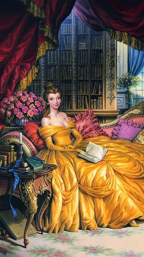 ディズニー Belle XFVGA(480×854)壁紙画像