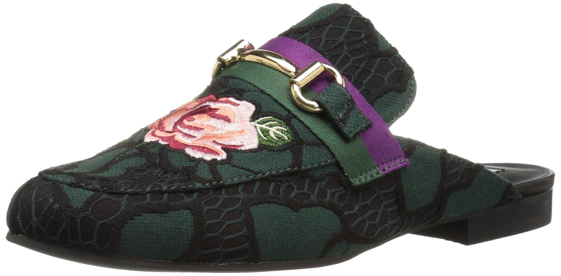 Steve Madden Women's Kandi Slip-on Loafer, Floral Mutli, 7 M US