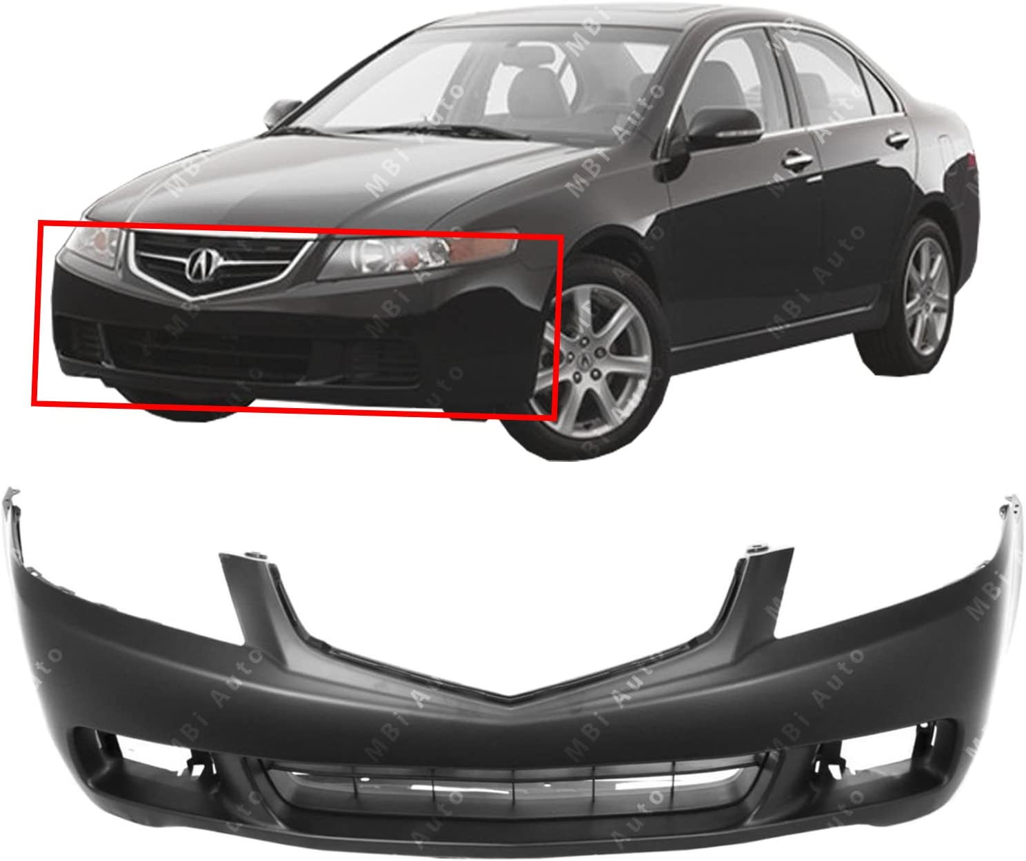 Primered Front Bumper Cover Fascia for 2004 2005 Acura TSX 04 05 AC1000145 BUMPERS THAT DELIVER
