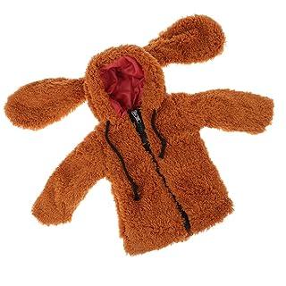Fenteer Cappotto Giacca Jacket Coniglio Orecchini Modello Cappello Bambini Vestiti per Doll - Cielo blu