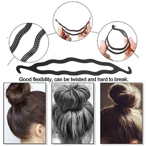 15 Pcs Hair Styling Accessories Kit for Hair Style, Buns Maker Hair Braids  Tool Black Hair Twist Wedding Tools DIY Hair Styling Accessory for Girls ...
