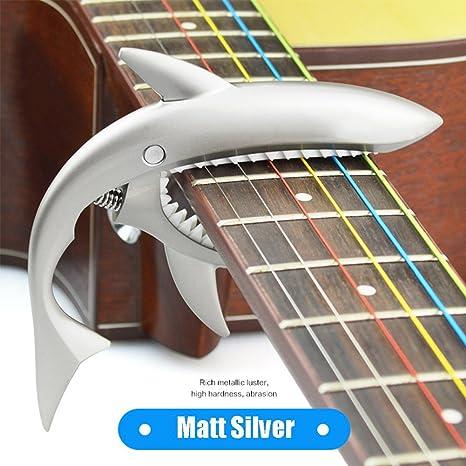 FuLanDe - Cejilla para guitarra eléctrica y acústica (ajuste de micro tensión), Matt