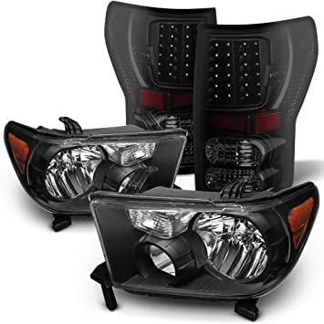 AmeriLite Red//Clear LED High Mount Stop Cargo 3rd Brake Lights for Toyota Tundra