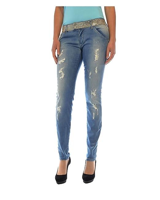 MET jeans linea Diamond cintura con strass vita bassa effetto delavé (30) 731301ae38d