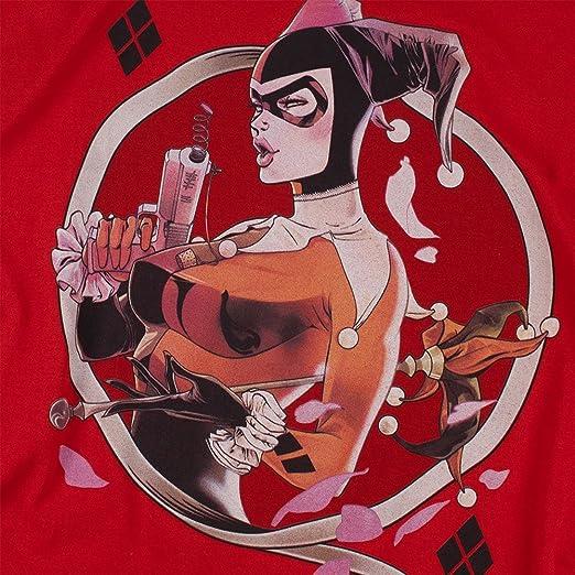 Camiseta y Pegatinas de Harley Quinn DC Comics - Rojo - XX-Large: Amazon.es: Ropa y accesorios