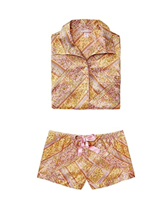 Image Unavailable. Image not available for. Color  Victoria  s Secret New! Afterhours  Satin Boxer Pajama Set Small Paisley Patchwork 0c3098c91
