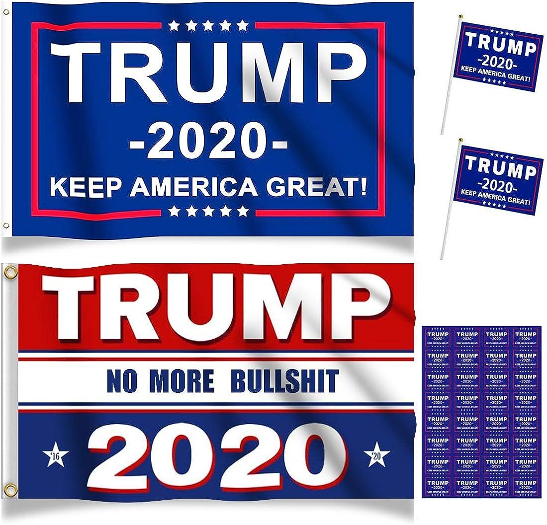 Donald Trump 2020 Flags President Donald Trump Flag 2020 Keep America Great No More Bullshit Flags