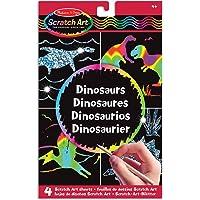 Melissa & Doug Scratch Art Activity Kit: Dinosaurs - 4 Holographic Boards