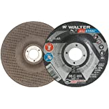 Aluminum Oxide Abrasive Wheel A-24-AXX Grit Surface Finishing Wheels 4-1//2 in Walter 08H455 ALLSTEEL XX Exceptional Grinding Wheel - Pack of 10
