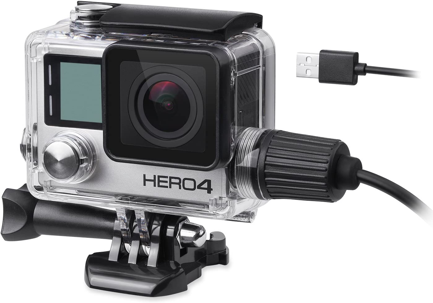 Navitech 9 in 1 Action Camera Accessory Combo Kit and Rugged Grey Storage Case Compatible with The Go Pro Hero 4//Hero4 Black//Hero4 Silver