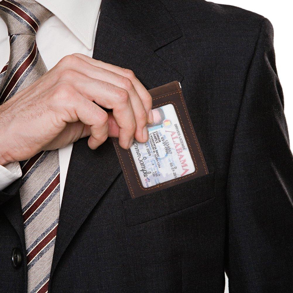 RFID Blocking Front Pocket Wallets Mens Wallets with Money Clip Hunter Khaki-02