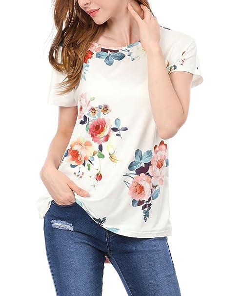 quality design ff889 4e182 Allegra K - Camicia - Maniche Corte - Donna White X-Small ...