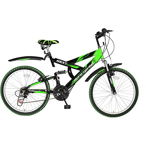 Hero Sprint Next 24T 18 Speed Mountain Cycle (Green/Black)