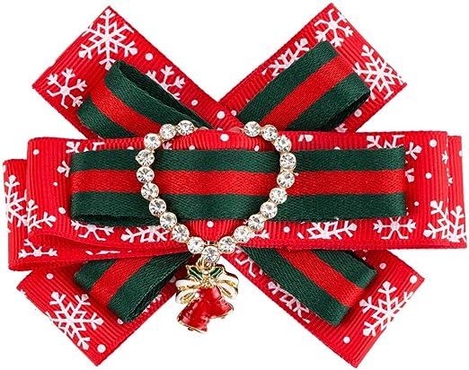 Neckchiefs Pajarita Camisa de Vestir para Mujer Bowknot Broche Exquisito patrón de Copo de Nieve Pre-Corbata Pajarita Broche Pin Navidad Ropa Accesorios: Amazon.es: Jardín