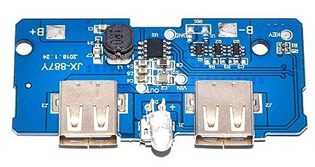 MAE 5v 1/2 1a USB DC-DC Boost Converter Pass Through Charging Step up Power  Bank PCB Module DIY kit