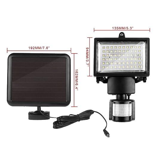 Nuevo 60 LED Solar seguridad foco Sensor de movimiento PIR ...