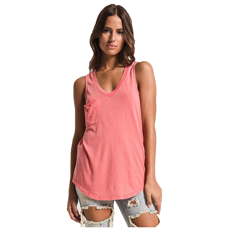 30b4641e80d44 Amazon.com: Z SUPPLY Clothing Women's The Pocket Racer V Neck Tank Top:  Clothing