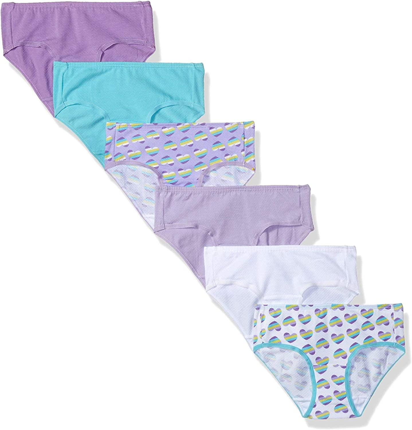 NWT Fruit of the Loom Girl/'s Cotton Briefs 12-Pack Varied Colors Tag Free Sz 14