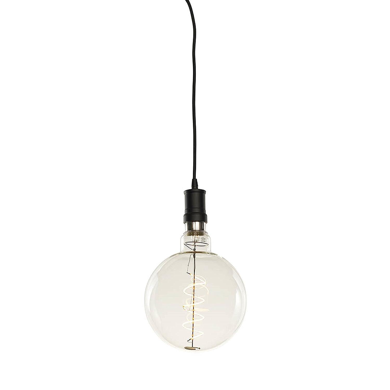 Bulbrite 810117 Contemporary Pendant Collection Black//Chevron 4W LED Water Bottle Grand Filament