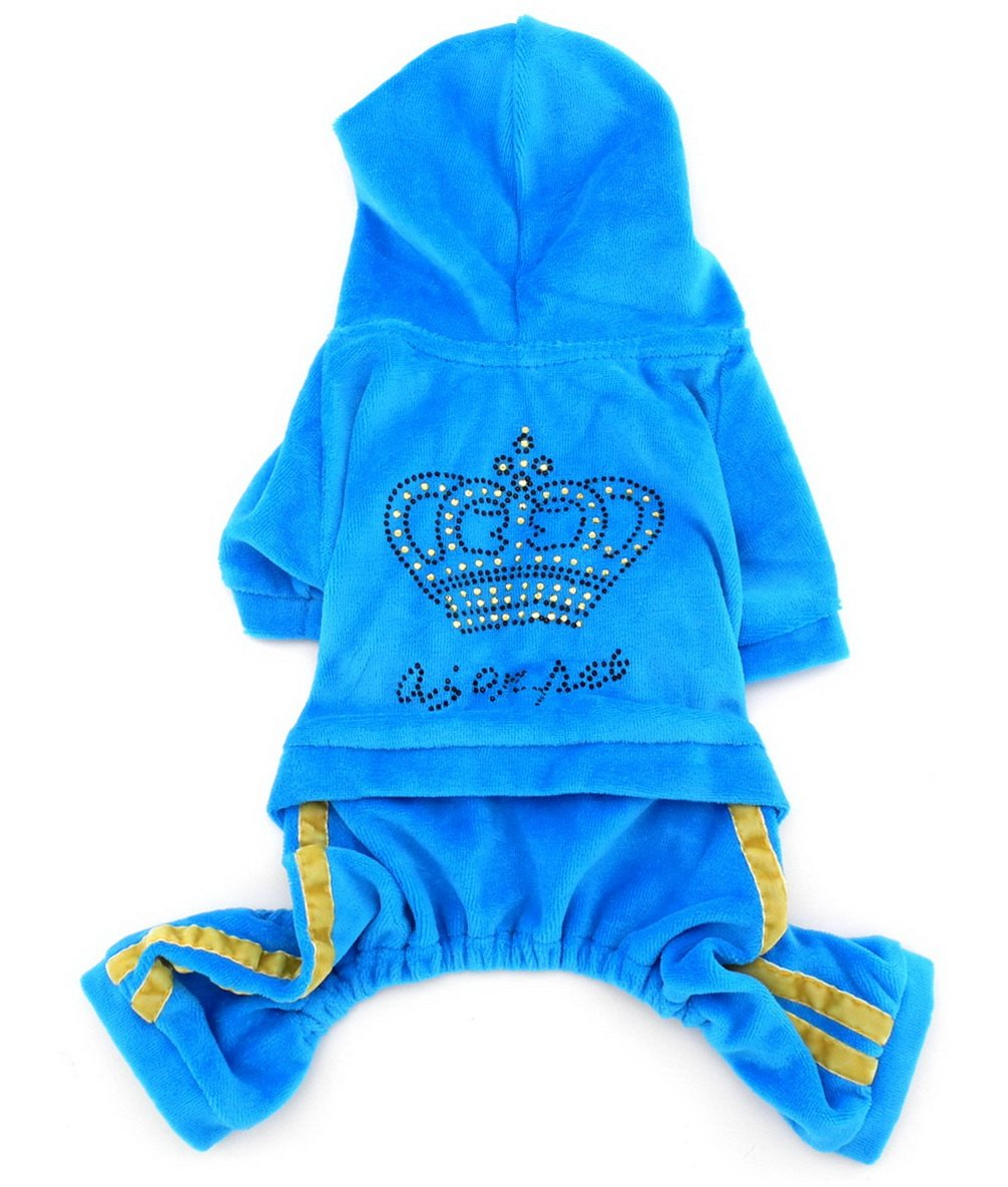 ranphy mascotas ropa para perros mono con corona de ...