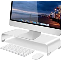 Soundance Aluminum Monitor Stand Computer Mount Laptop Riser, Desk Organizer Storage Space for Keyboard Mouse Office…