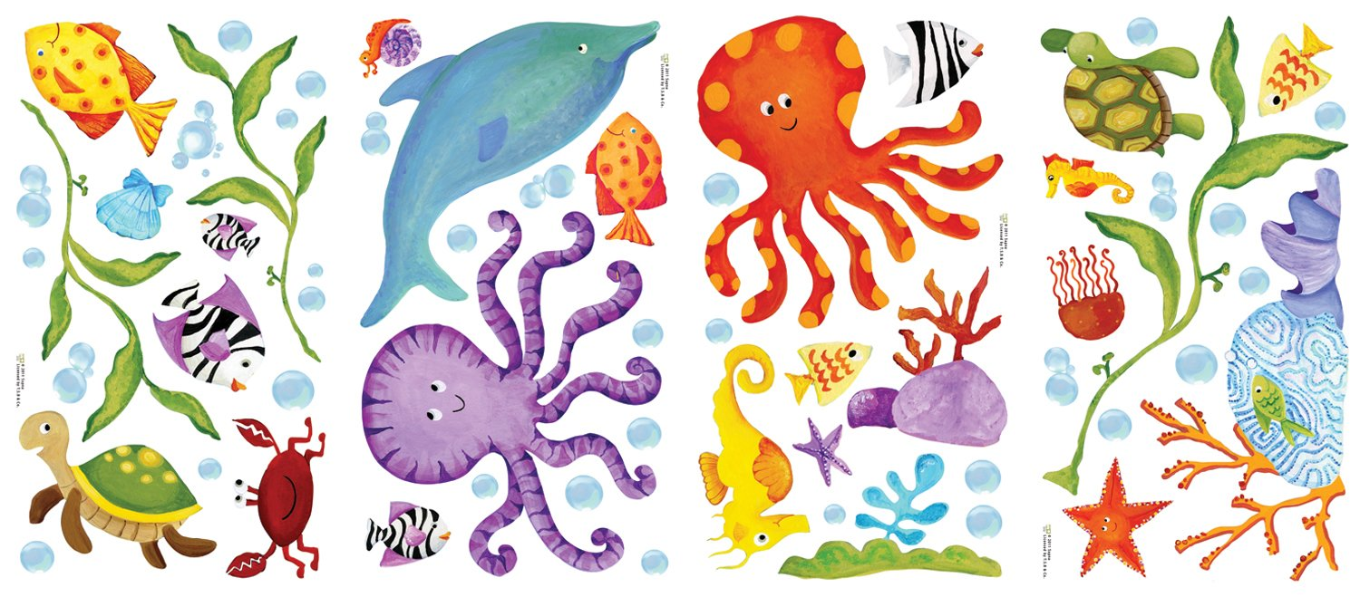 Amazon.com: RoomMates RMK1851SCS Adventures Under The Sea Peel And Stick Wall  Decals: Home Improvement