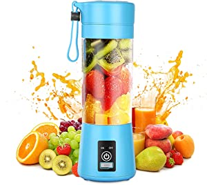 Portable Blender,Personal Blender with USB Rechargeable Mini Fruit Juice Mixer,Personal Size Blender for Smoothies and Shakes Mini Juicer Cup Travel 380ML,Fruit Juice,Milk