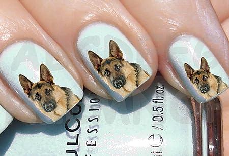 Aws Set Water Newsee Decals German Shepherd Dog Nail Art Stickers