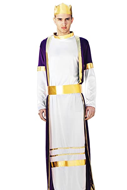 Men's Deluxe Oriental Arab Prince King of the Kingdom Dress Up & Role Play Halloween Costume (One Size - Fits All)
