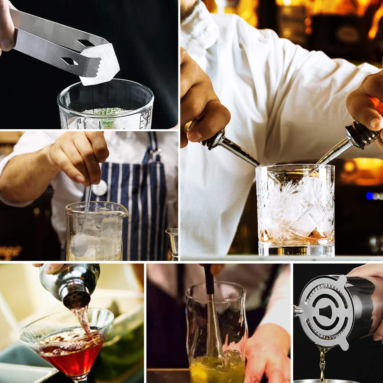 Coctelera para Cócteles, Juego de Mezcla de cócteles, Barman Cocteleria de 9 Piezas, Kit de Herramientas de Barra de Acero Inoxidable de 750 ml, Ideal ...