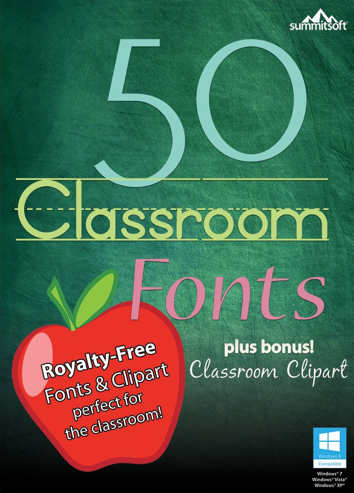 50 Classroom Fonts for PC [Download] by Summitsoft
