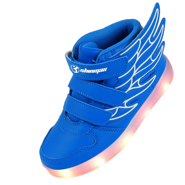 Multi-couleur clignotant Kid Sneaker chaussure décontractée pour Merci donnant de Noël-blue-26