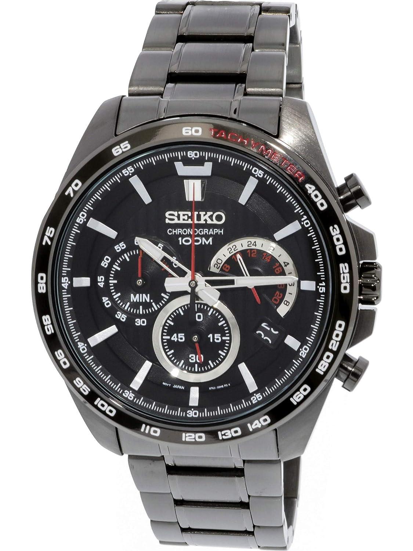 1d98752b2c Seiko Homme Ssb311 Gris en acier inoxydable japonais chronographe montre de  plongée: Seiko: Amazon.fr: Montres